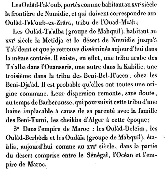 قبائل جزائرية tribus algériennes