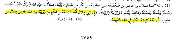 ربيعة بن الهزم بن رويبة هلال