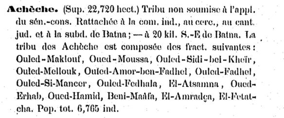 tribu arabe acheche batna _n