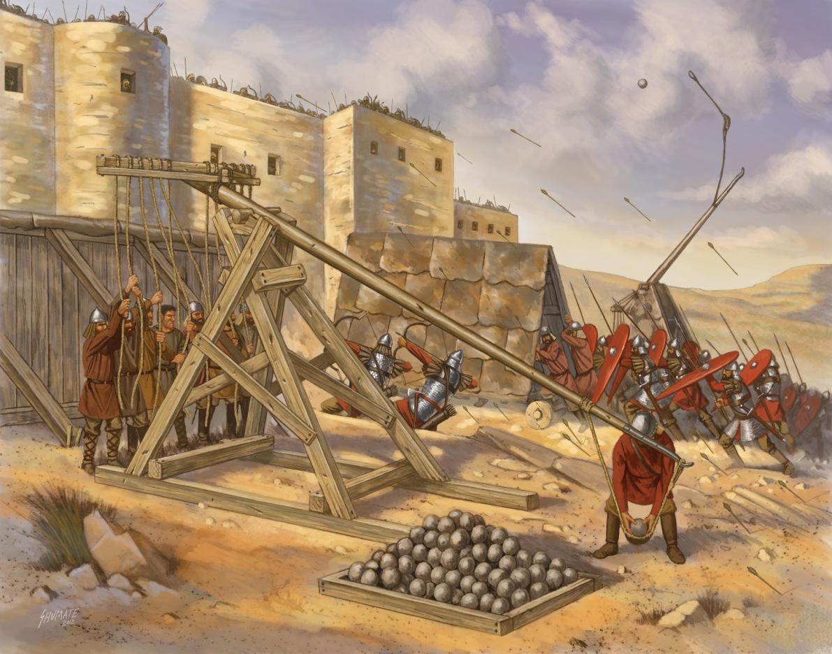 Illustration du siège de Tripoli  par Basile II l'empereur Byzantin , la ville fut défendu par des soldats arabes locaux et une garnison Fatimide