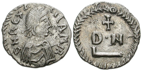 Carthage Monnaie du roi vandale Gélimer, VIe siècle
