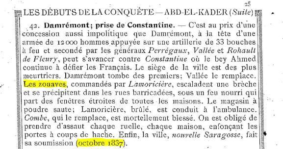الزوافا واحتلال مدينة قسنطينة رفقة الجيش الفرنسي