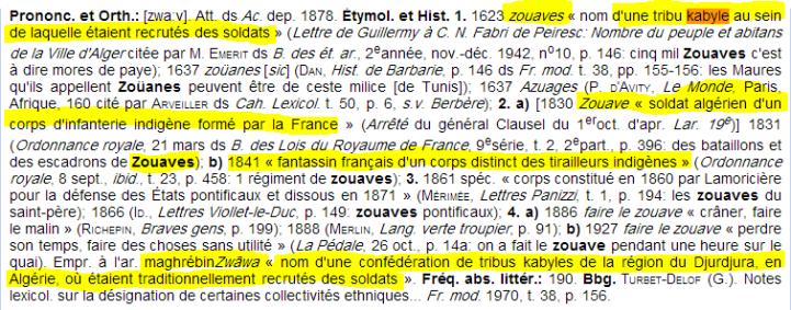 الزوافا كلمة فرنسية محرفة لاسم قبيلة أمازيغية ( زواوا)