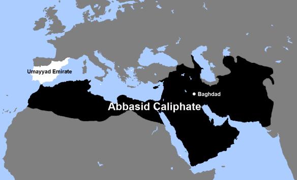 Le califat Abbasside à partir de 756 JC  lors de la prise d'al-ANDALUS par Abd al-Rahman Ad-Dakhil