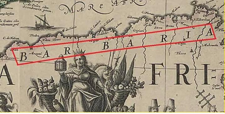 ما هو الفرق بين ( berber & barbar ) و ( barbaria & berberia )؟