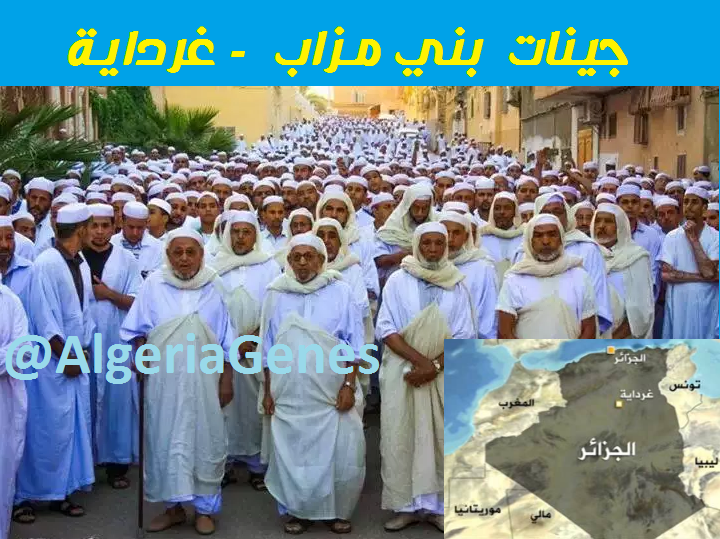 جينات بني مزاب – إباضية الجزائر    Mozabit Berbers DNA –Algeria